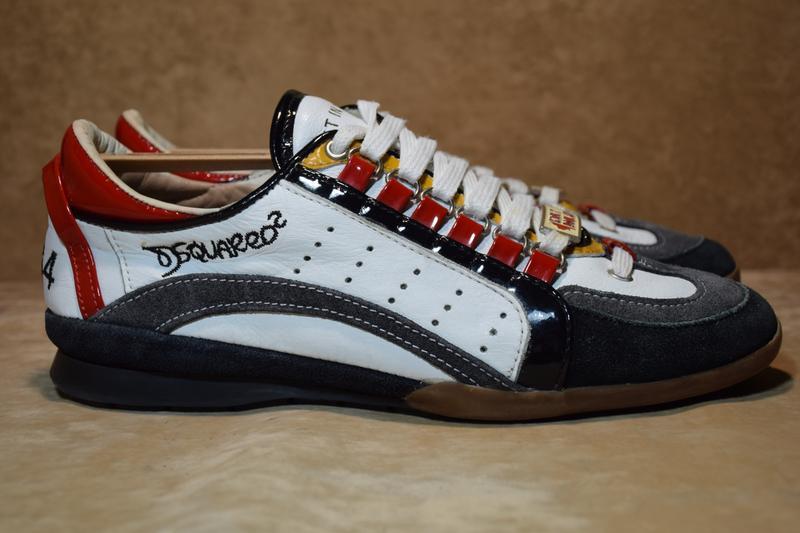 de497f19 Кроссовки туфли dsquared2 кожаные. италия. оригинал. 41 р./26 см ...
