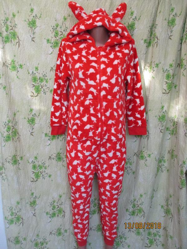 f2b7b919111ae Теплый слип/пижама/кигуруми человечек зайка с ушками 10 лет рост 140 см1  фото ...