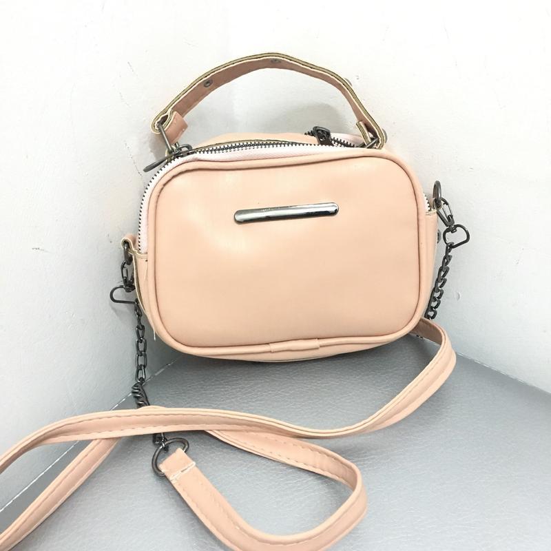 44d78285c413 Женская стильная сумка клатч пудра на 2 отделения + ремешок, цена ...