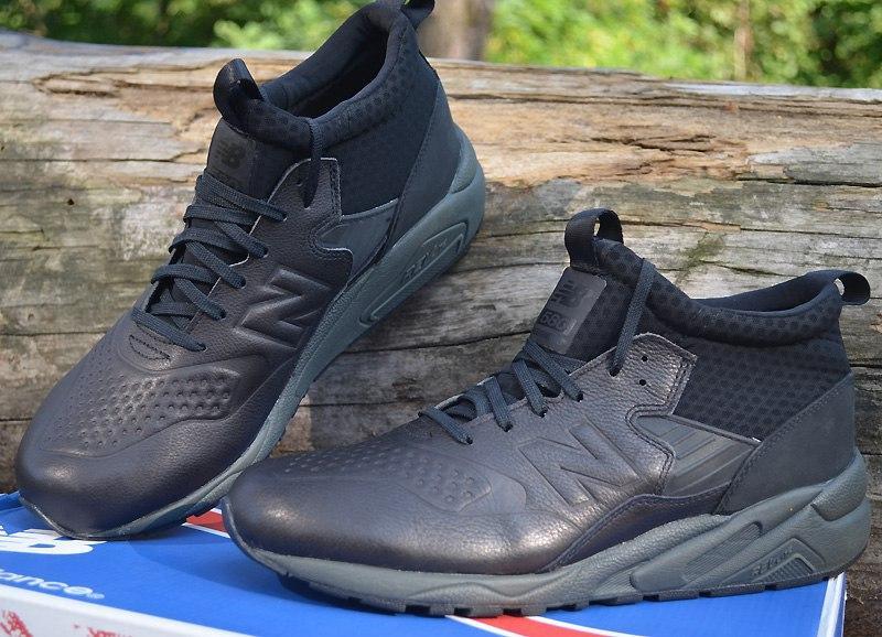 66d0d6abd Оригинал высокие кожаные кроссовки new balance mrh580dd черные, размер 43,нью  беленс1 фото ...