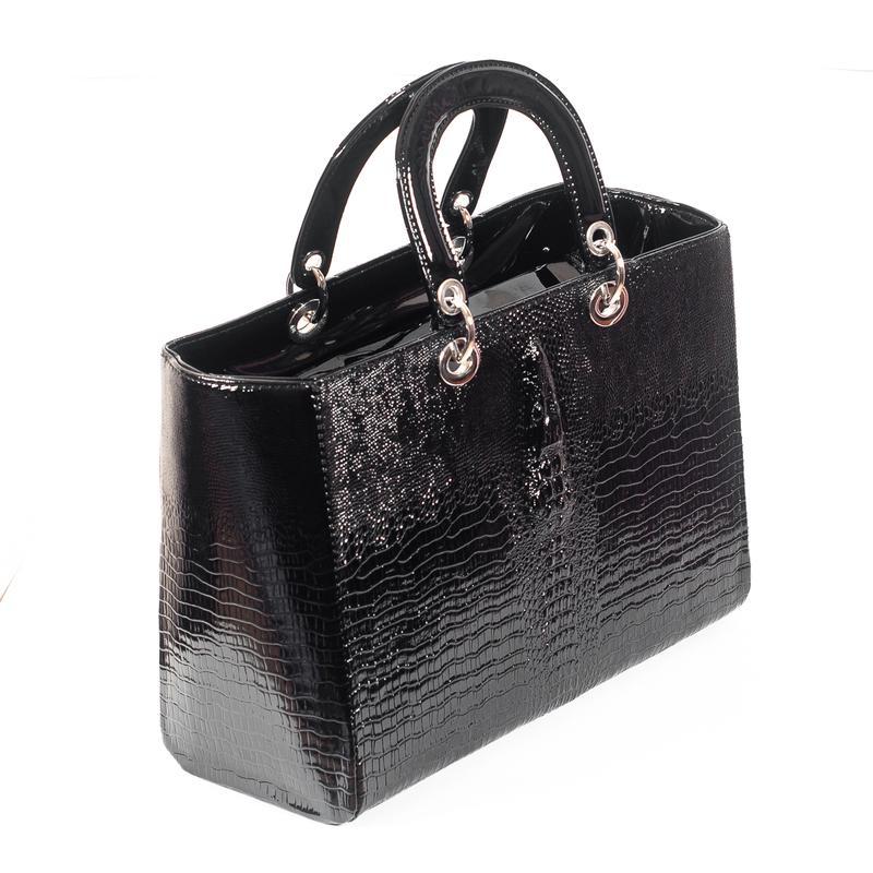 7abca3e11dd3 Женская сумка в стиле dior крокодил черная, цена - 325 грн ...