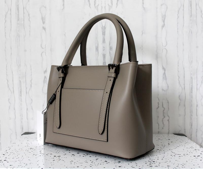 Женская итальянская кожаная сумка (нат. кожа) тауп (бежевая), италия1 ... 0db3eb53262