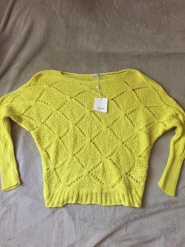 Крупной вязки свитер с дырками mango летучая мышь zara кофта Piazza ... 9125b5db5f337