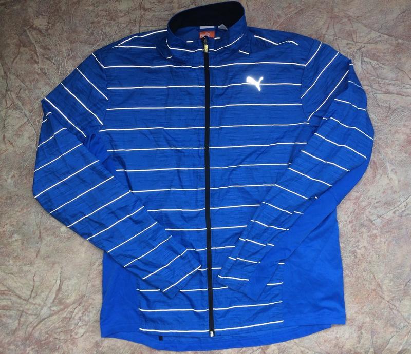 504e9830 Рефлективная светоотражающая куртка ветровка puma для бега спорта1 фото ...