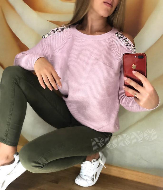 43b52730f8b Женский свитер с открытыми плечами