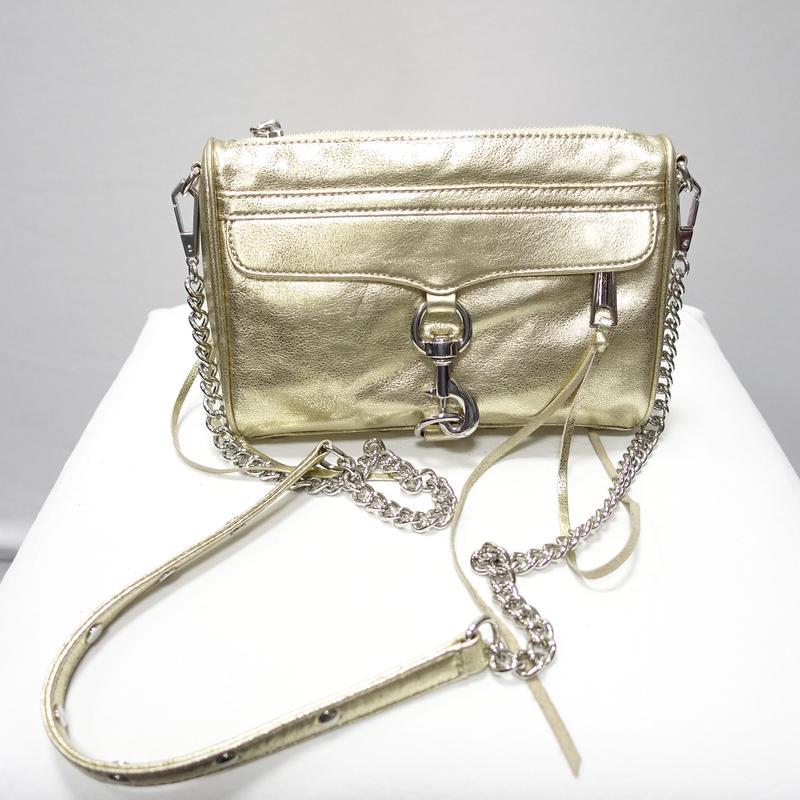efd07cec2915 Кожаная сумка золотого цвета rebecca minkoff mini mac америка1 ...