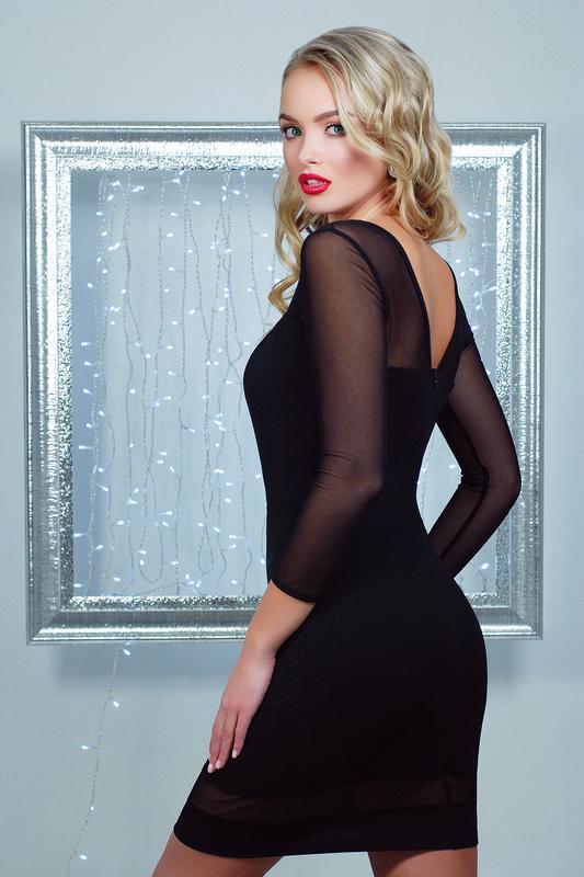 269a345f6ac962d ... Маленькое черное коктейльное платье плаття плечи рукава сеточка  коктейльна сукня р.s-l3 фото ...