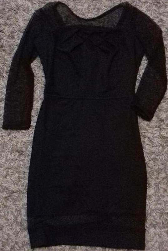 76e3c81b134412b ... Маленькое черное коктейльное платье плаття плечи рукава сеточка  коктейльна сукня р.s-l4 фото ...