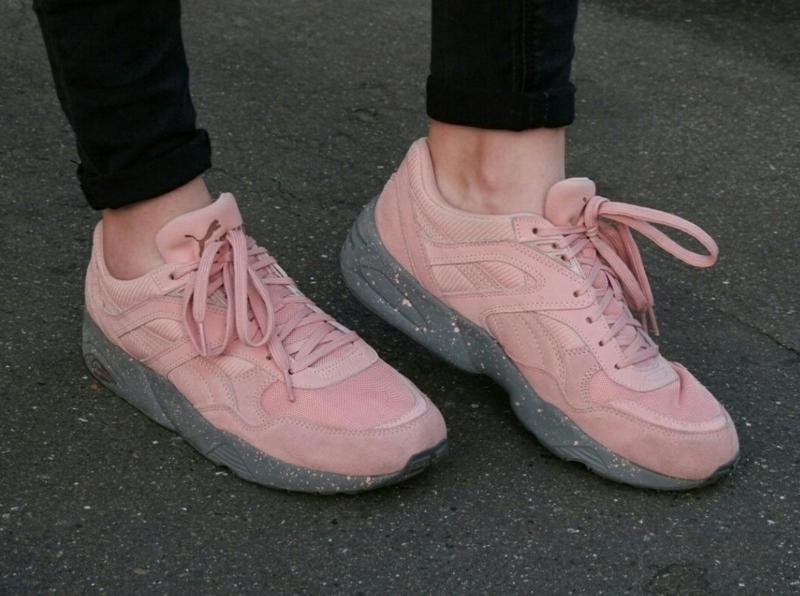 Женские кроссовки puma trinomic r698 winterized coral cloud pink (пума  триномик) розовые1 ... 59ce371b785