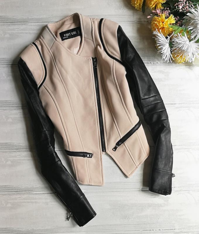 меня куртка с кожаными рукавами женская картинки садово-дачных