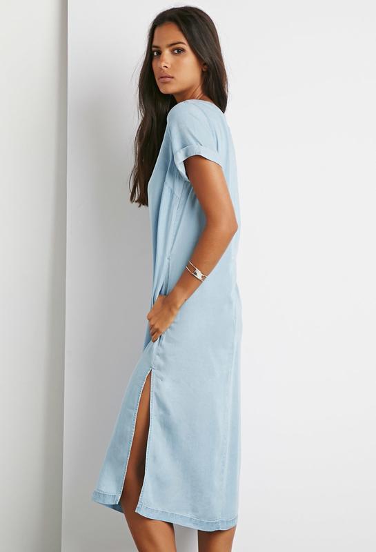 23b349836ab Джинсовое платье миди