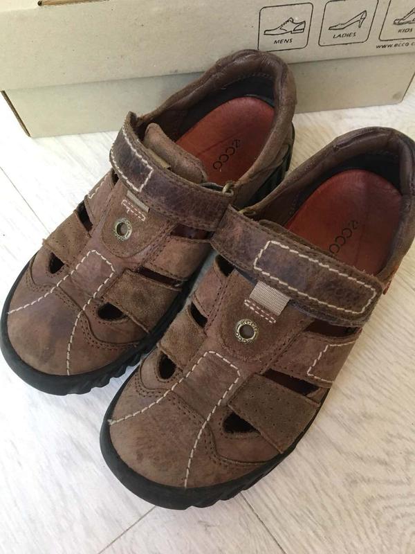Кожананые коричневые сандали ecco на мальчика Ecco 262f0a0c56f3c