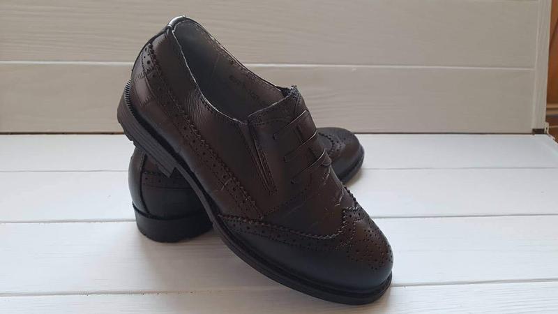 7e61ea6c5 ... Кожаные школьные подростковые туфли для подростка кожа школа шкіряні  туфлі шкіра р.32-372 ...