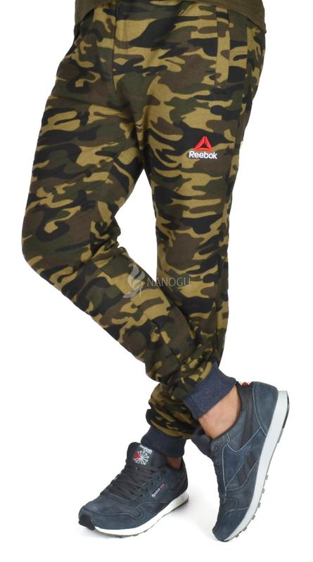 ddbefd33 ... Спортивные штаны мужские камуфляж хаки reebok на манжетах2 фото ...