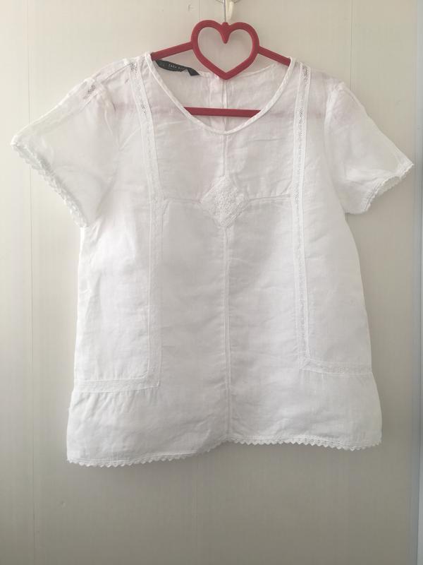 777549a62e2 Стильная натуральная льняная блузка блуза прошва