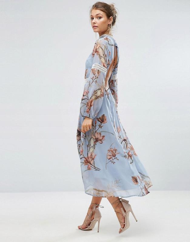 Hope and ivy розкішна ексклюзивна сукня квіти птахи розпис Hope and ... ad8c61d021929