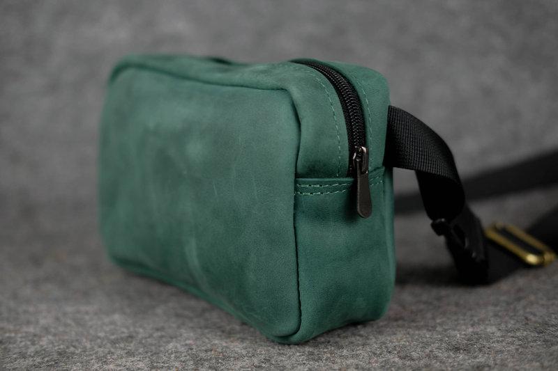 413eff62523b Кожа. ручная работа. кожаная зеленая женская сумка сумочка на пояс. поясная  сумка бананка1 ...