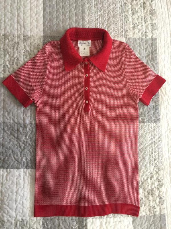 Весенняя коллекция paris, france, кофточка-футболка красная с белым agnes1  ... aabf71f6806