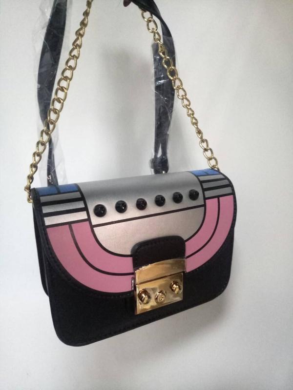 3afaab9968fe ... Летняя сумка через плечо / клатч с заклепками в силе furla (8008 black  (черный