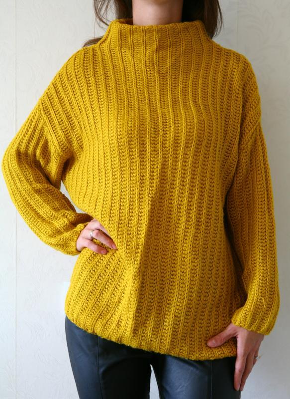 теплый свитерженский свитервязаный свитер под шею George цена