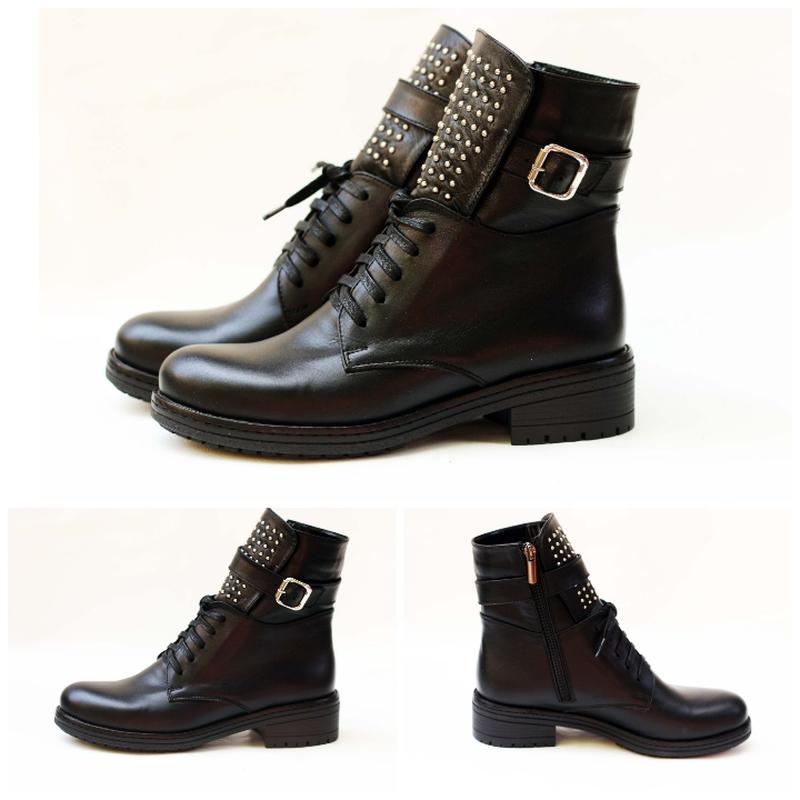 0b0ae4a1fe55 Модные кожаные осенние  зимние демисезонные сапоги ботинки 36 37 38 39 40  41 размер1 ...