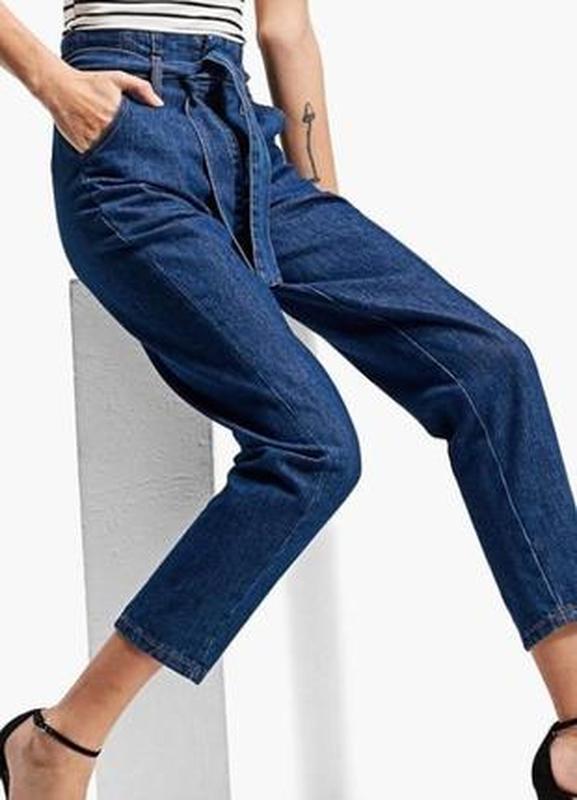 19ff015a53e Модные мом джинсы высокая талия с поясом 25-29р1 фото ...