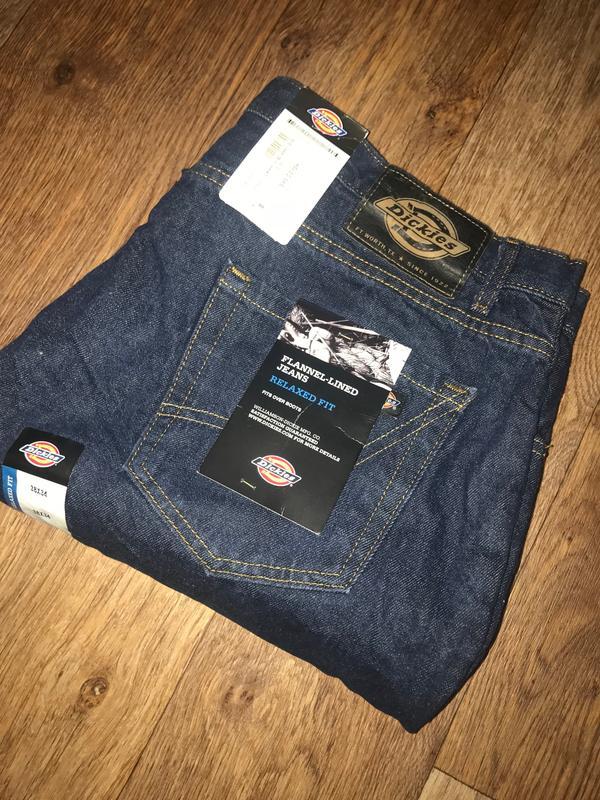 Зимние фирменные джинсы dickies c фланелевой подкладкой р-р 38 341 ... 8f992132dba