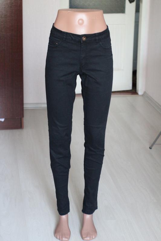 d7e77e037bd Узкие джинсы черные h m 10 размер 38 завышенная посадка скинни H M ...