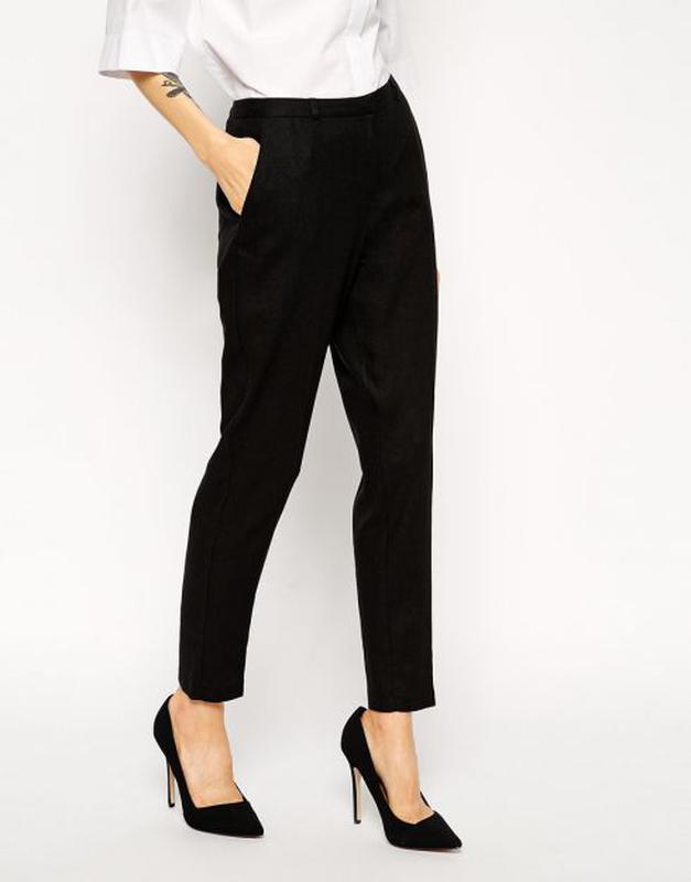 5dce84f6 Штаны брюки классические чёрные зауженные мода 2018 f&f штани класичні  завужені1 фото ...