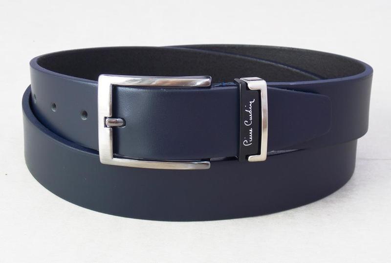 Мужской кожаный синий ремень pierre cardin классический Pierre ... 00c05f2502d1b