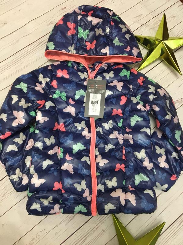 7b643dad9 1. классная куртка для девочки бабочки 110 размер coolclub, цена ...