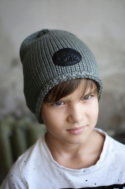 вязаная шапка для мальчика за 150 грн шафа