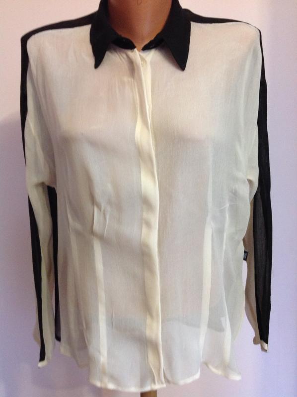 6d2d6c9c5e1 Вискозная двухцветная блуза.- рубашка.  xs  brend didi в подарок при  покупке1 ...