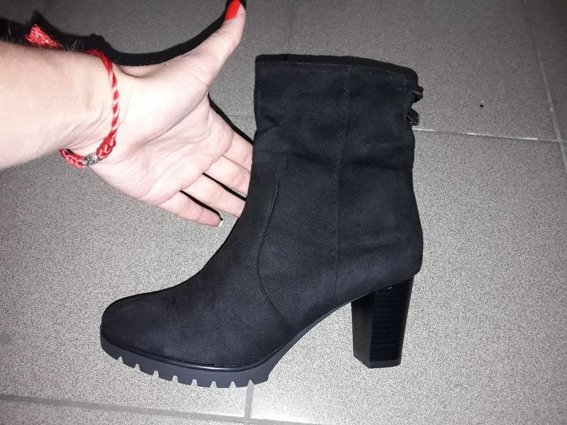b506e0271 Ботинки деми ср каблук устойчивом полуботинки замша єко женские  демисезонные1 фото ...