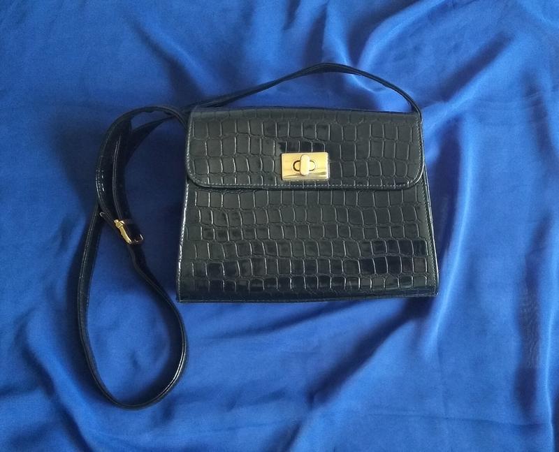 9f1a01891fa8 Черная лакированная сумка на длинном ремешке, цена - 350 грн ...