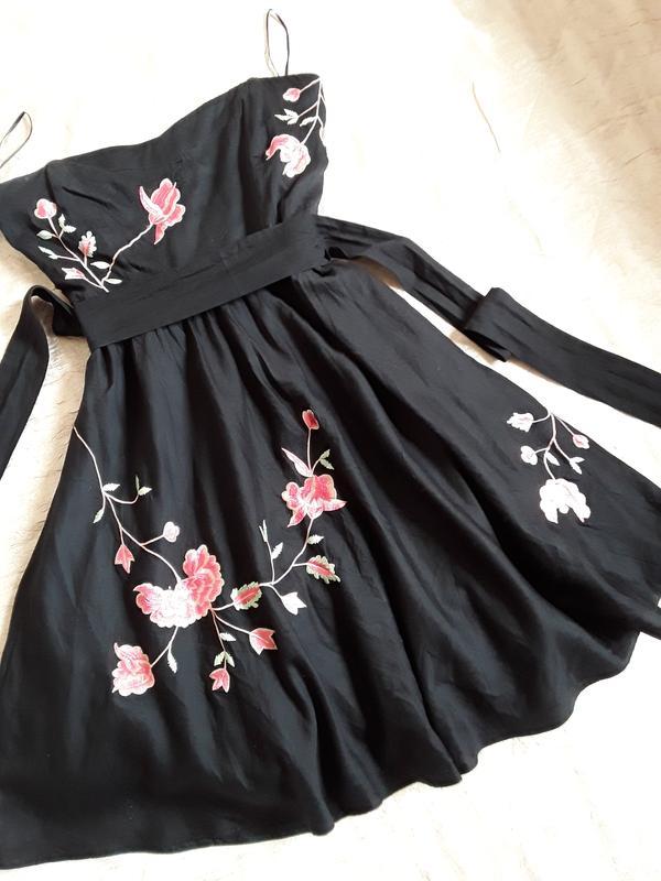 6b9866cbbcb41c Маленькое черное платье с вышивкой ручной работы zara ZARA, цена ...