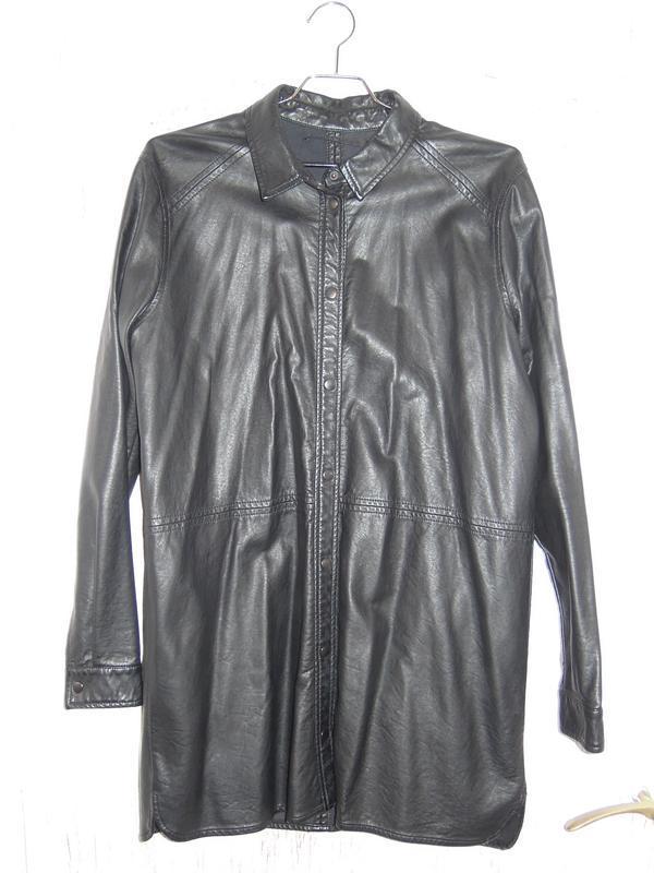 77c5b6d2b2e217e Кожаная рубашка удлинённая (бренд minimum) ZARA, цена - 249 грн ...