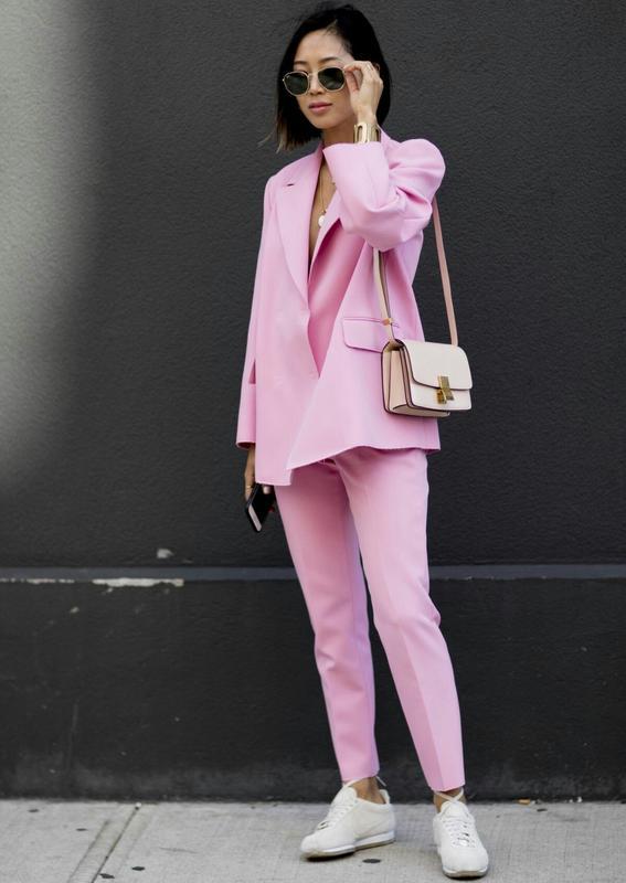 Идеальный брючный женский костюм нежно-розовый пиджак брюки штаны1 ... ea10388559421