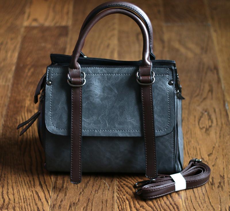6ce7b7dc1d8b Стильная серая сумка, цена - 459 грн, #15663201, купить по доступной ...