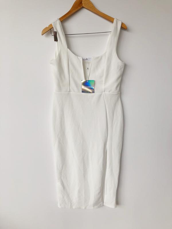 41f778925d5 ... Роскошное белое платье миди missguided ms3114 фото ...