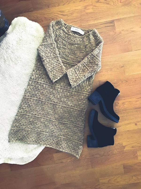 1a8ad5c5186 Вязаное платье кофта туника zara knit ZARA