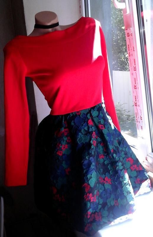 80b01e3a876 Кукольное платье с пышной юбкой жаккард Турция