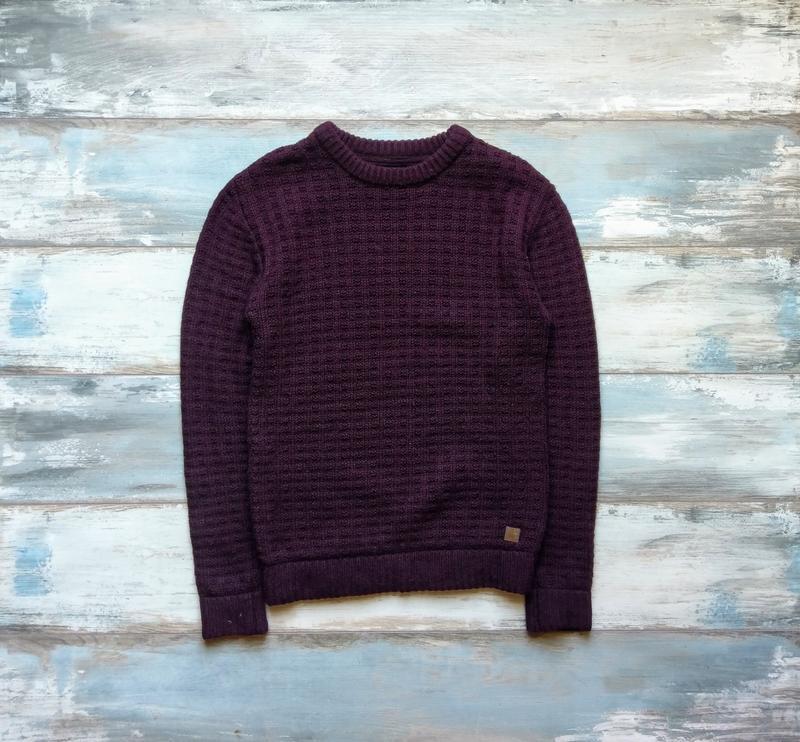 шерстяной бордовый вязаный свитер Junk De Lux Hm цена 219 грн