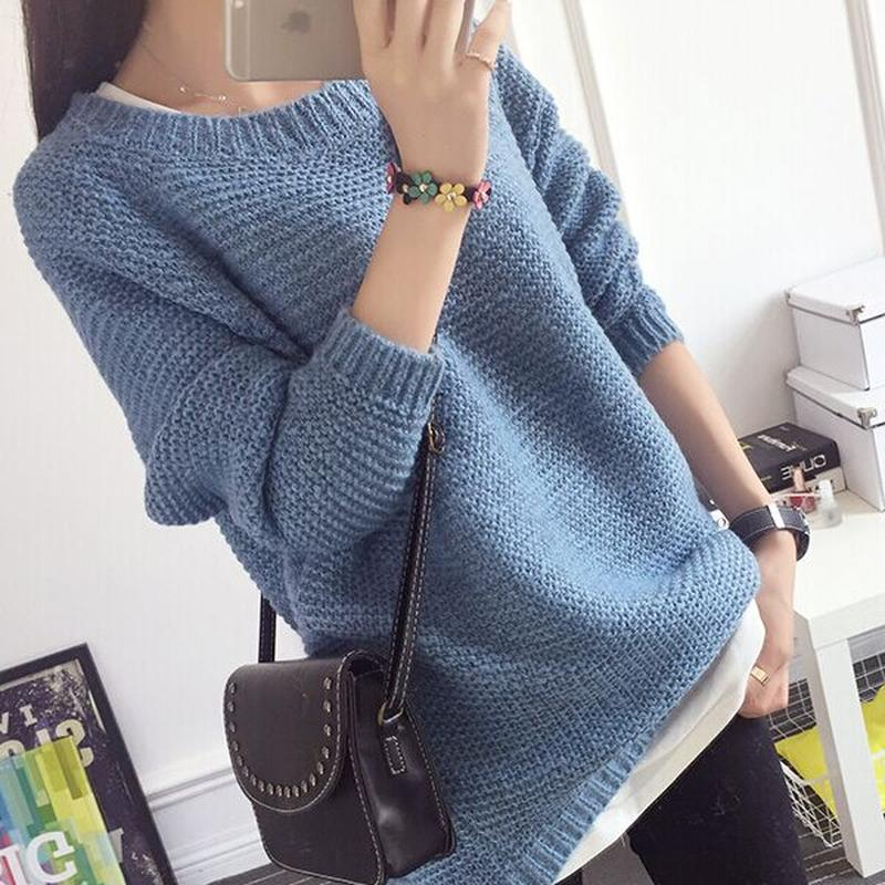 вязаный женский свитер оверсайз Oversize крупная вязка объёмный