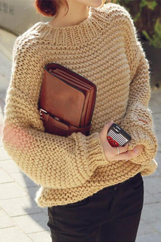 505ca01bd2d Вязаный женский свитер оверсайз oversize крупная вязка объёмный ручная1  фото ...