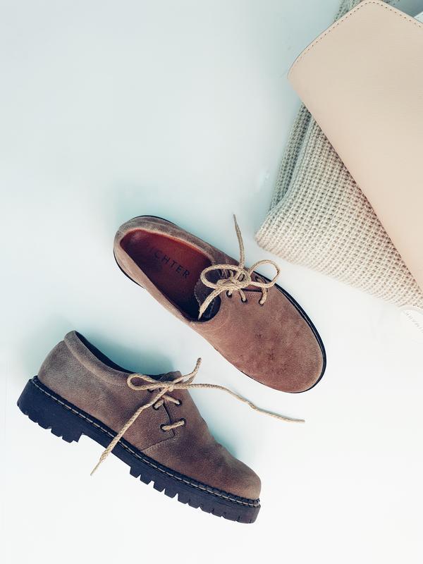 Замшеві туфлі на низькому каблуку Richter ccb00bb0a6862