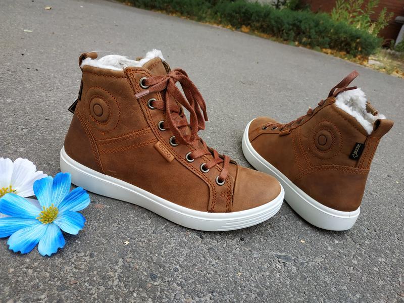 Утепленные кожаные ботинки хай-топы ecco gore-tex Ecco 5b133d124d9ba