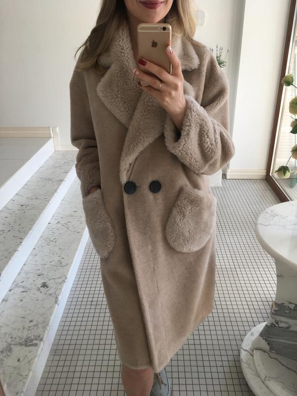 Шуба пальто натуральная овчина беж с-м1 ... 383ffb1dc6cb7