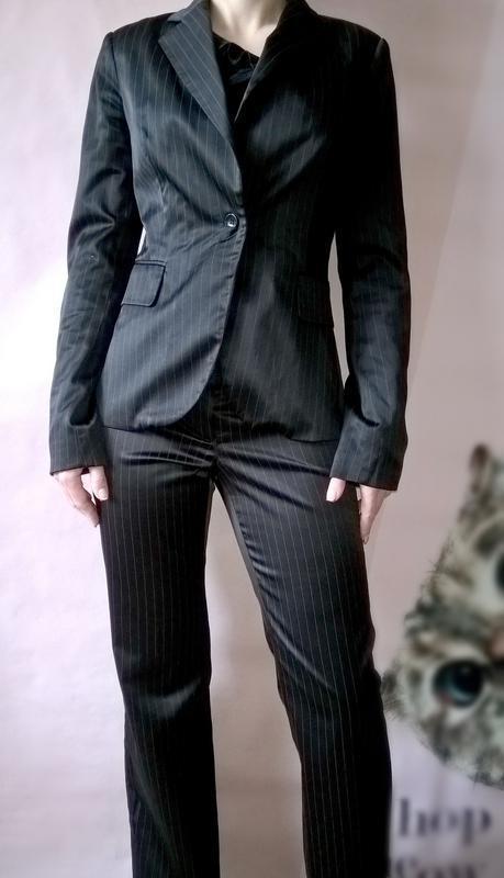 6d32c1396946 Женский брючный костюм черный в полоску классический incity Incity ...