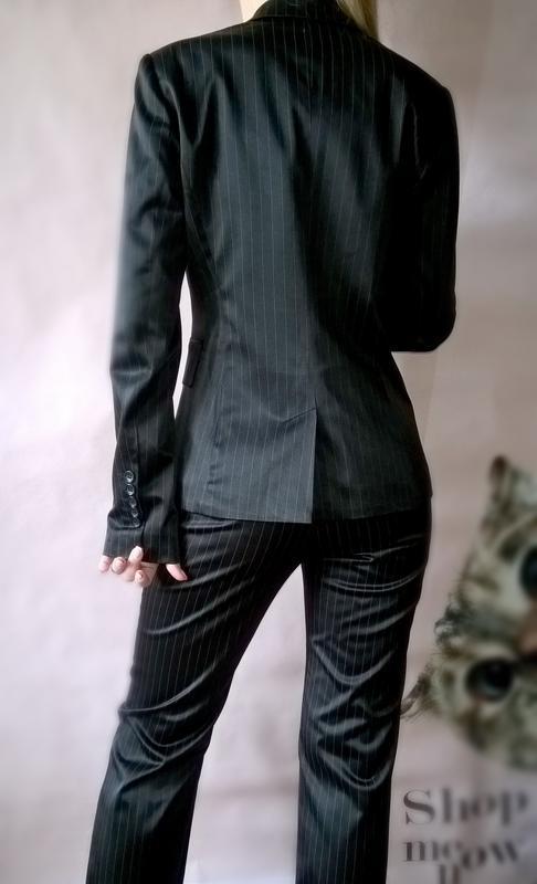 5fe996bc217d ... Женский брючный костюм черный в полоску классический incity2 фото ...